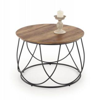 Konferenční stolek NUBIRA ořech / černá Halmar