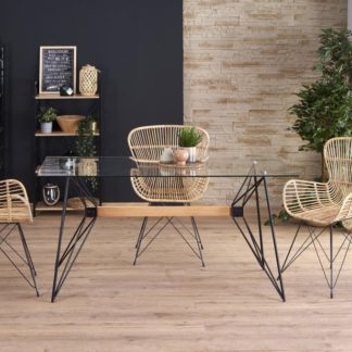 Jídelní stůl ALLEGRO sklo / buk Halmar