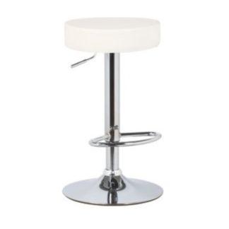 Barová židle ADALIN ekokůže / chrom Tempo Kondela Bílá