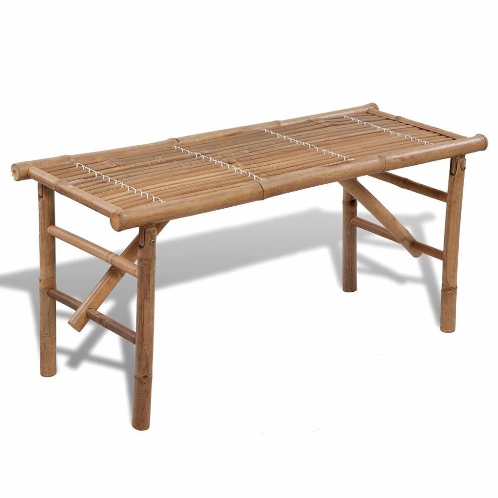 Bambusová skládací zahradní lavička