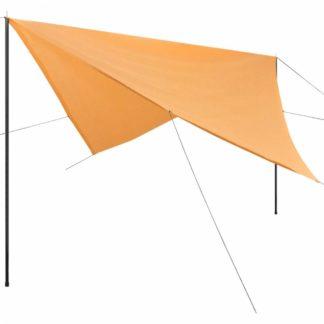 Plachta proti slunci s tyčemi čtvercová 5x5 m Béžová