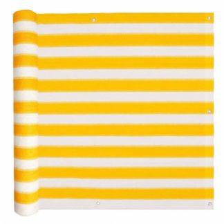 Balkonová zástěna HDPE 75 x 600 cm Bílá / žlutá