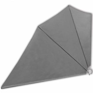 Skládací zástěna proti větru 160 x 240 cm Šedá