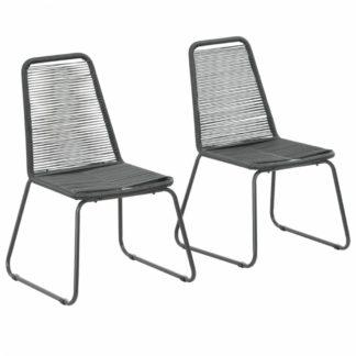 Zahradní jídelní židle 2 ks černá