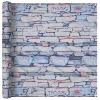 Balkónová zástěna 75 x 400 cm oxfordská látka Kamenná zeď