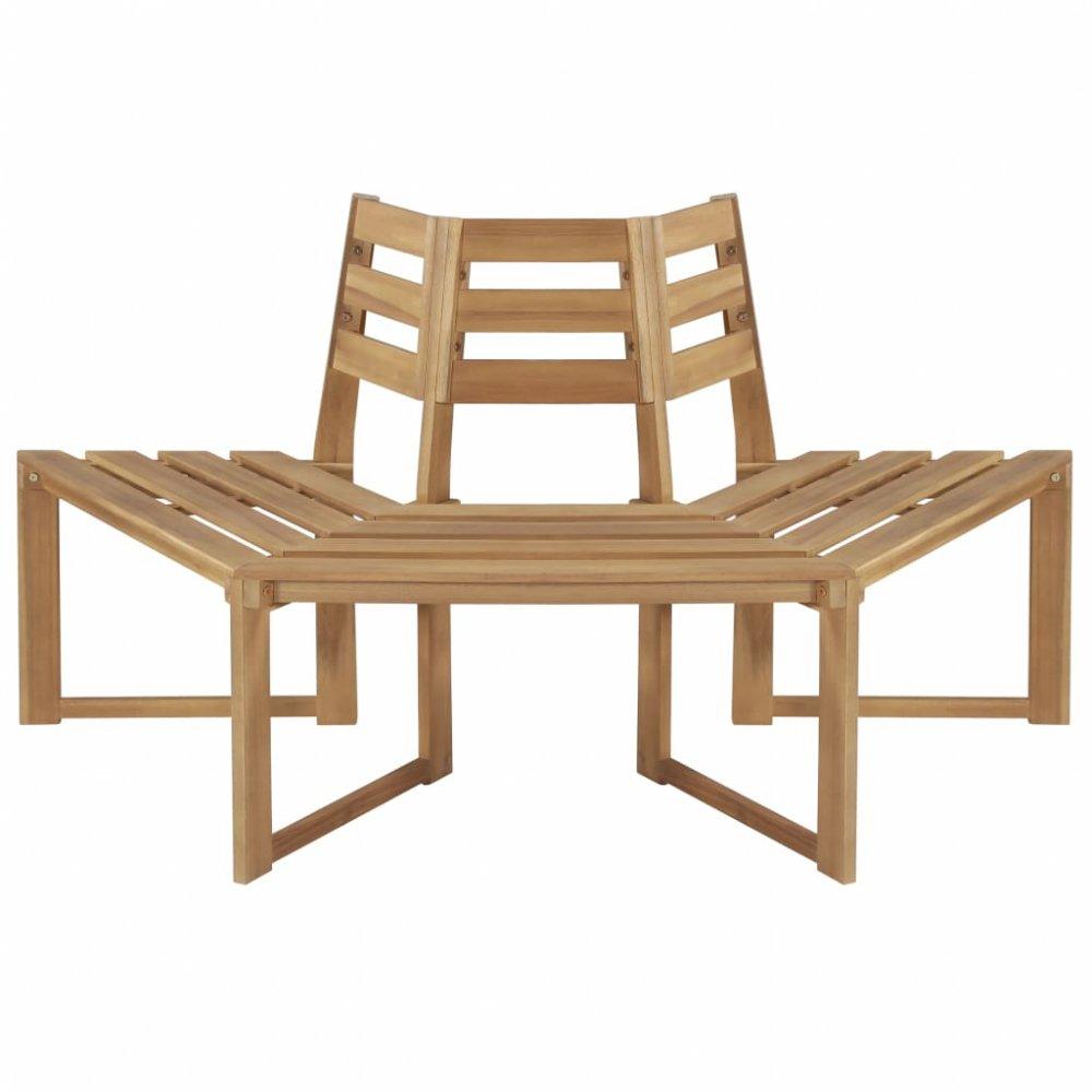 Zahradní lavička kolem stromu z akáciového dřeva