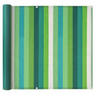 Balkónová zástěna 75 x 600 cm oxfordská látka Zelený proužek