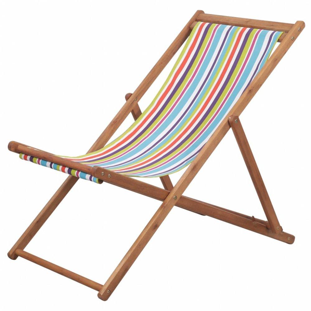 Skládací plážová židle látková Vícebarevné