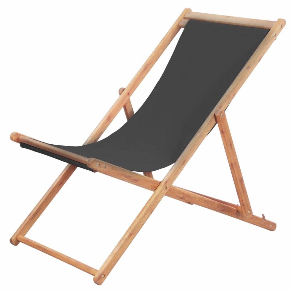 Skládací plážová židle látková Šedá