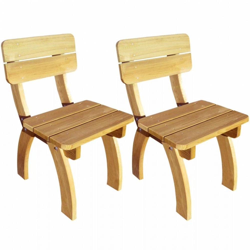 Zahradní židle 2 ks borové dřevo