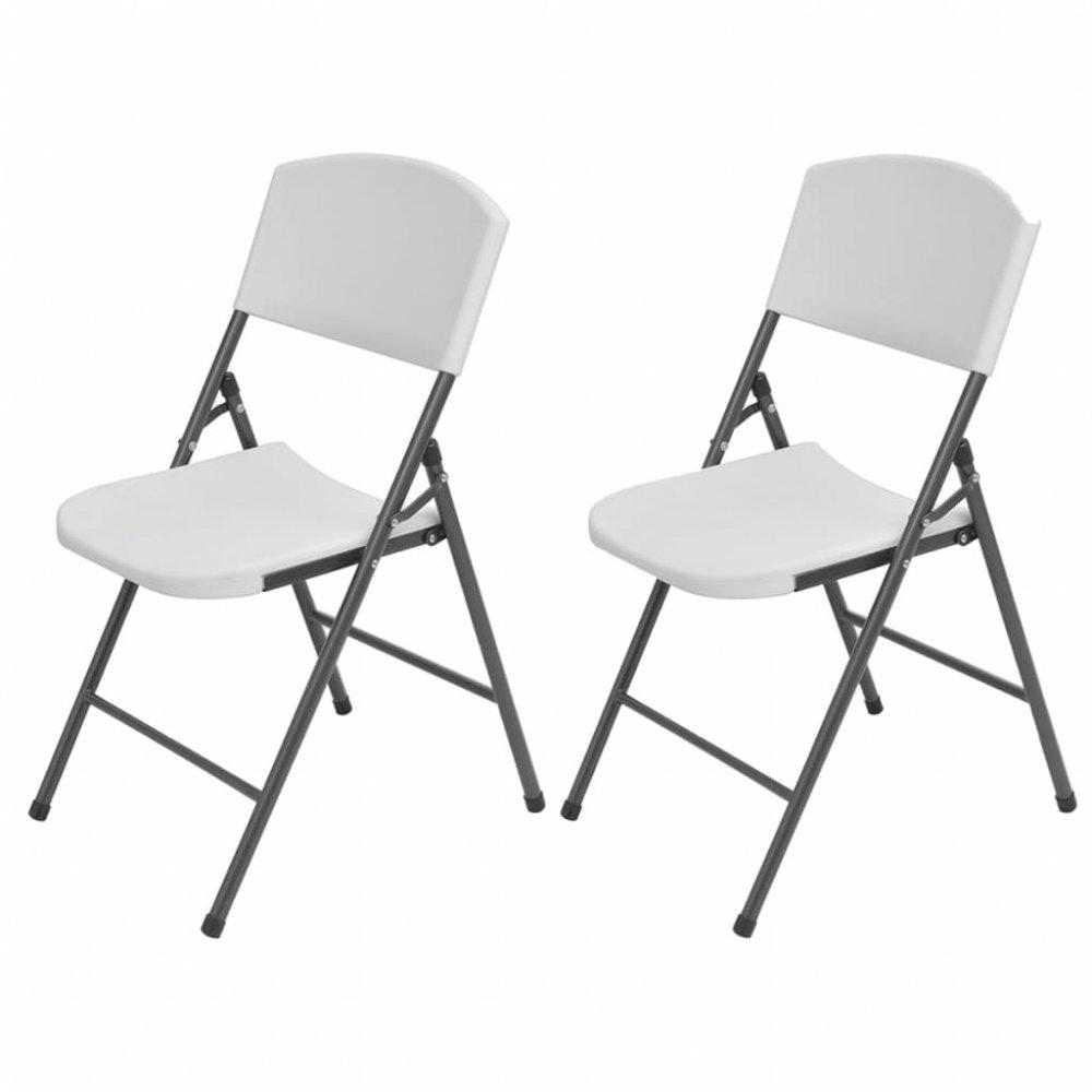 Skládací zahradní židle 2 ks bílá