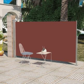 Boční markýza na terasu / balkonová zástěna 160 x 300 cm Hnědá