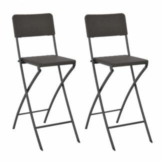 Skládací barové židle 2 ks hnědá