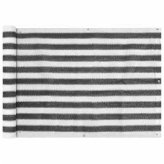 Balkónová zástěna HDPE 75 x 400 cm Bílá / antracit