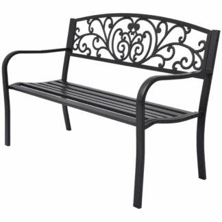 Litinová zahradní lavička černá