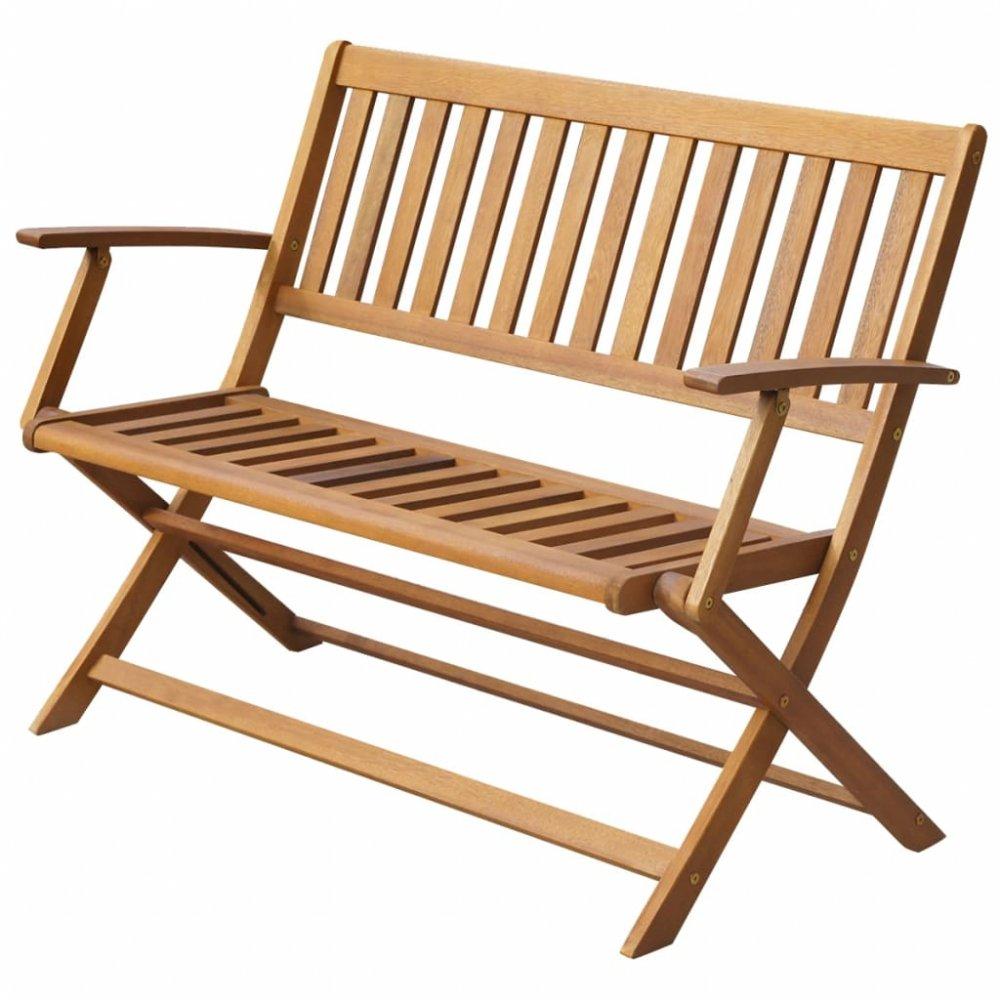 Skládací zahradní lavička z masivního akáciového dřeva