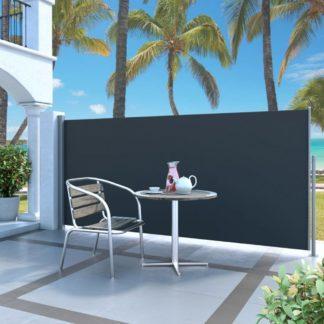 Zatahovací boční markýza / zástěna 140 x 300 cm Dekorhome Černá