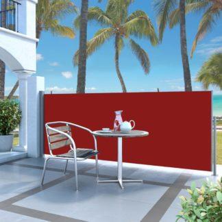 Zatahovací boční markýza / zástěna 140 x 300 cm Dekorhome Červená