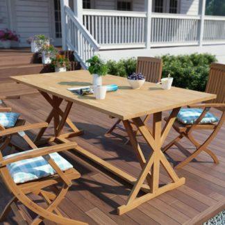 Zahradní jídelní stůl 180x90 cm z teakového dřeva