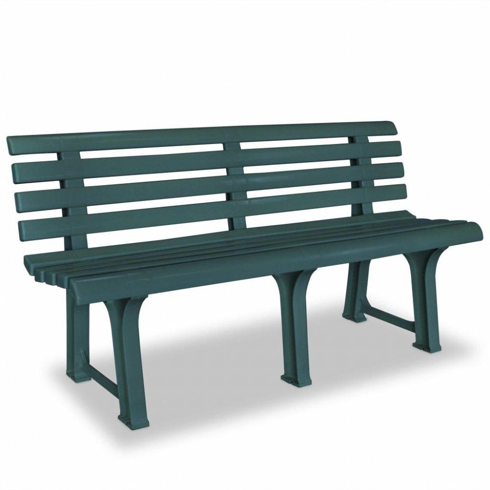 Plastová zahradní lavička Zelená