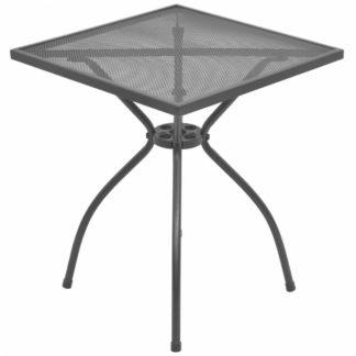 Zahradní stolek 60x60 cm antracit ocelové pletivo