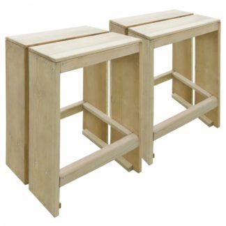 Zahradní barové židle 2 ks z borovicového dřeva