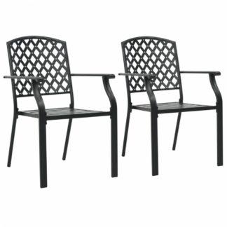 Stohovatelné zahradní židle 2 ks černá