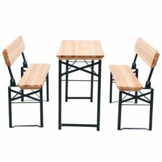 Skládací pivní set stůl se 2 lavicemi 118 cm jedle