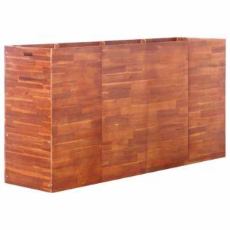 Zahradní truhlík 200 x 50 x 100 cm z akáciového dřeva