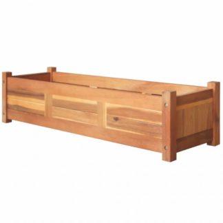Zahradní truhlík 100 x 30 x 25 cm z akáciového dřeva