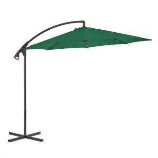 Konzolový slunečník s ocelovou tyčí Ø 300 cm Zelená