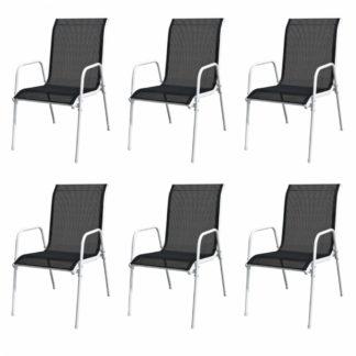Venkovní jídelní židle 6 ks černé