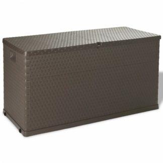 Zahradní úložný box 420 l Hnědá