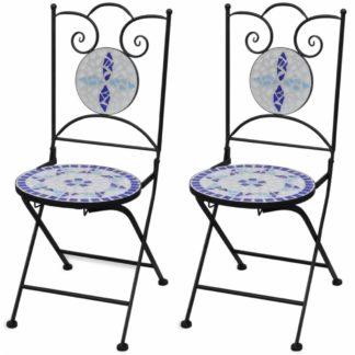 Zahradní skládací židle 2 ks Modrá