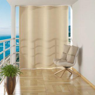 Závěsná balkonová zástěna 140 x 230 cm Krémová