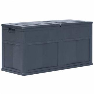 Zahradní úložný box 320 l Dekorhome Černá