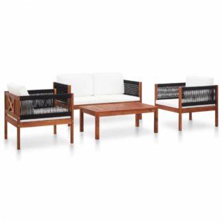 Zahradní sedací souprava 4dílná akáciové dřevo