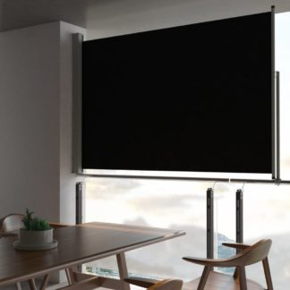 Zatahovací boční markýza 160 x 300 cm Dekorhome Černá
