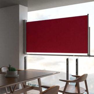 Zatahovací boční markýza / zástěna 120 x 300 cm Červená