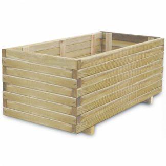Zahradní truhlík 100 x 50 x 40 cm z borovicového dřeva