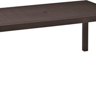 MELODY stůl - hnědý Allibert Hnědá