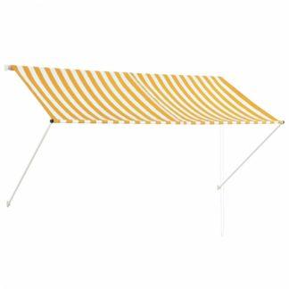 Zatahovací markýza 250x150 cm Dekorhome Bílá / žlutá