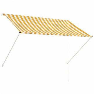 Zatahovací markýza 200x150 cm Dekorhome Bílá / žlutá