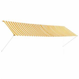 Zatahovací markýza 400x150 cm Dekorhome Bílá / žlutá