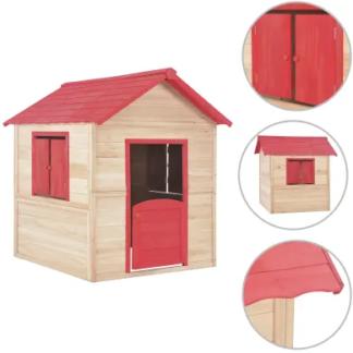 Dětský dřevěný domek Dekorhome Červená