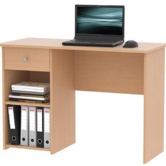 Praktický psací stůl se zásuvkou KURT, buk