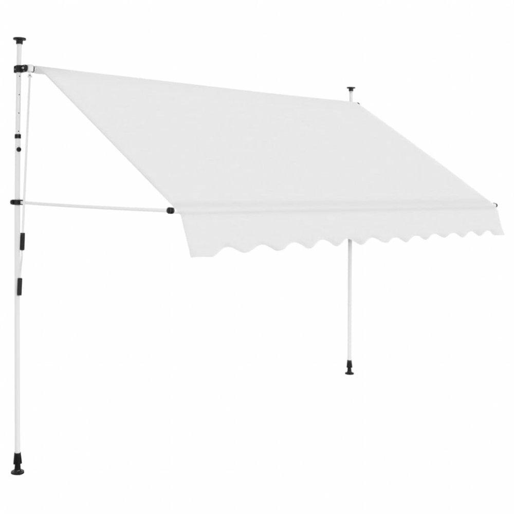 Ručně zatahovací markýza 300 cm Dekorhome Krémová