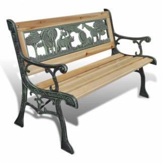 Dětská zahradní lavička s motivem zvířat