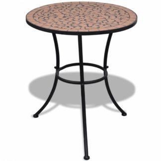 Mozaikový bistro stůl keramika Dekorhome Cihlová