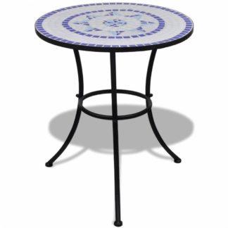 Mozaikový bistro stůl keramika Dekorhome Modrá